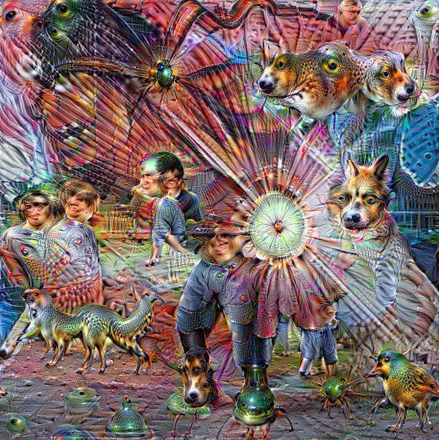 'Quarter Circle Punch' 5th Iteration in Deep Dream